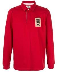 Polo de manga larga bordado rojo de Kent & Curwen