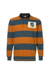 Polo de manga larga de rayas horizontales en multicolor de Kent & Curwen
