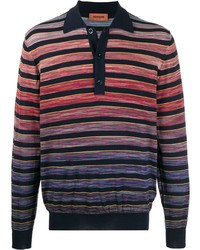 Polo de manga larga de rayas horizontales en multicolor de Missoni
