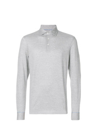 Polo de manga larga gris de Hackett