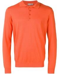 Polo de manga larga naranja de Laneus