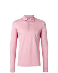 Polo de manga larga rosado de Aspesi