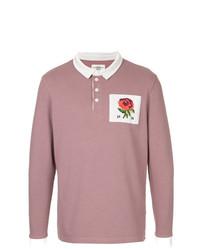 Polo de manga larga rosado de Kent & Curwen