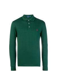 Polo de manga larga verde oscuro de Polo Ralph Lauren