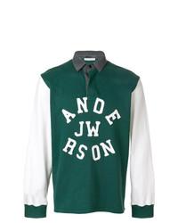 Polo de manga larga verde de JW Anderson