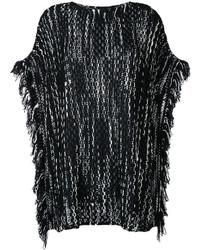 Poncho de Lana de Punto Negro de Missoni