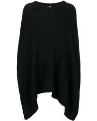 Poncho de lana negro de Twin-Set
