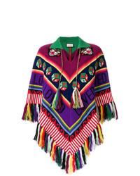 Poncho en zig zag en multicolor de Gucci