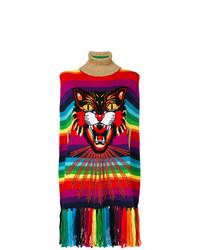 Poncho Estampado Multicolor de Gucci