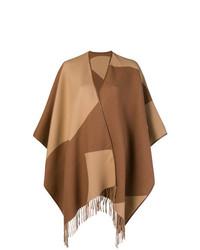 Poncho marrón de Salvatore Ferragamo