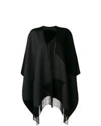 Poncho negro de Salvatore Ferragamo