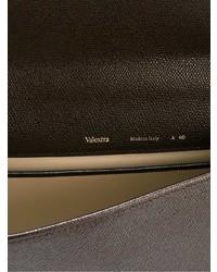 Portafolio de cuero en marrón oscuro de Valextra