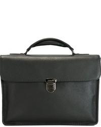 Portafolio de cuero negro de Zanellato