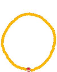 Pulsera con Cuentas Amarilla de Luis Morais
