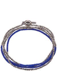 Pulsera con cuentas azul marino de M. Cohen