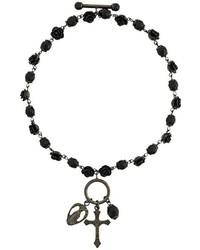 Pulsera con cuentas negra de Givenchy