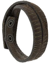 Pulsera de cuero en marrón oscuro de Diesel