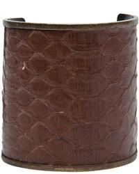 Pulsera de cuero en marrón oscuro de Plein Sud Jeans