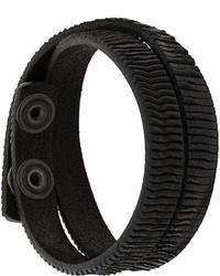 Pulsera de cuero negra de Diesel