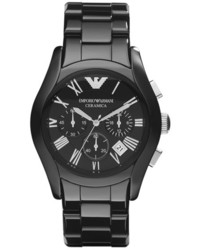 Reloj de cerámica negro