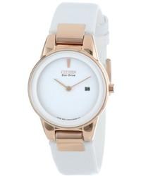 Reloj de cuero blanco de Citizen