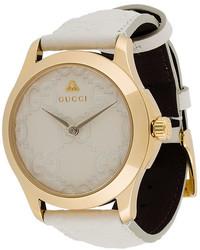 Reloj de Cuero Blanco de Gucci