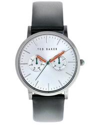 Reloj de cuero en gris oscuro