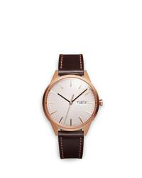 Reloj de cuero en marrón oscuro de Uniform Wares