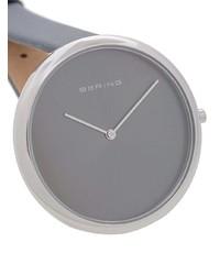 Reloj de Cuero Gris de Bering