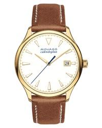 Reloj de cuero marrón