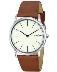 Reloj de cuero marrón de Skagen