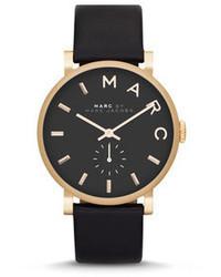 Reloj de cuero negro