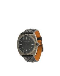 Reloj de cuero negro de Christian Koban