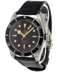 Reloj de Cuero Negro de Tudor