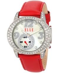 Reloj de Cuero Rojo