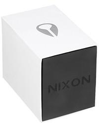 Reloj de cuero rojo de Nixon