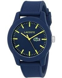 Reloj de goma azul marino de Lacoste