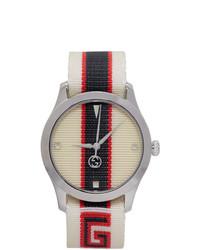 Reloj de lona blanco