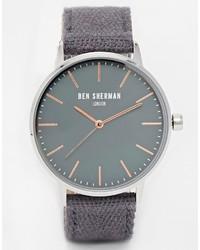 Reloj de lona en gris oscuro