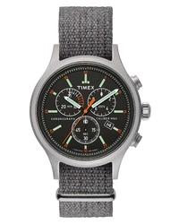 Reloj de lona gris