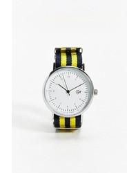 Reloj de Rayas Horizontales Amarillo
