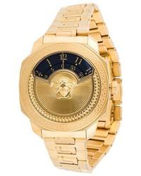 Reloj dorado de Versace