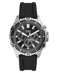 Reloj en negro y plateado