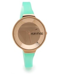 Reloj en verde menta