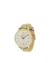 Reloj estampado dorado de Versace
