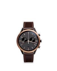 Reloj estampado en marrón oscuro de Uniform Wares