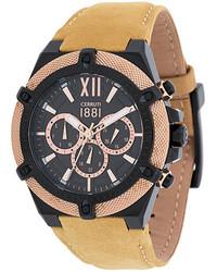 Reloj marrón claro de Cerruti
