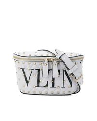 Riñonera de cuero blanca de Valentino