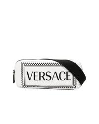 Riñonera de cuero blanca de Versace
