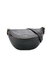 Riñonera de cuero negra de Balenciaga